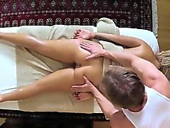 Poor customers penetrated and fucked on massage table