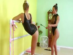 Lesbian anal fucking with strapon