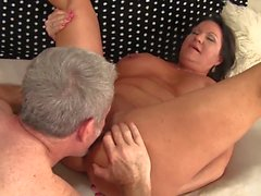 Delightful sex with beautiful brunette mature with tattoo