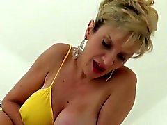 Unfaithful english milf gill ellis exposes her heavy boobs