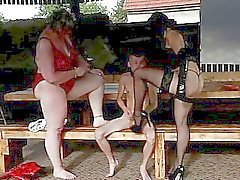 Super-sized dominas prefer skinny male slaves