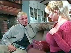 Hot mature woman gorgeous sucks dick and fucked.