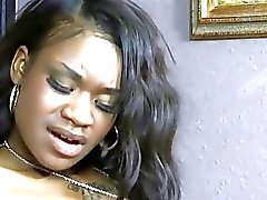 Smutty ebony teenie wishes to endure wild act
