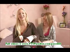 Nikkie and Aubrey awesome lesbian women kissing and getting naked