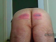 24 strokes by Miss Sultrybelle (Hard caning)