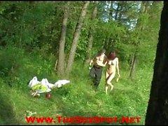 Betrunkener Teenie Analsex DP Outside Öffentliche Fick Sex