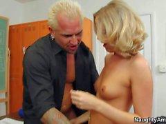 Hot blonde teacher gets rammed by a parent