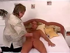 Sexy BBW Mature Granny Fucked on Bed