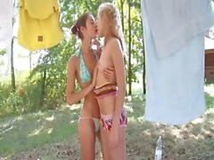 Moscow sapphic adventure in the forest