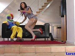 con suocera britannico doggystyled da parte clown a floor