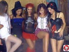 Anna Taylor Olivia Mary Dee Horror theme party 1080p HD
