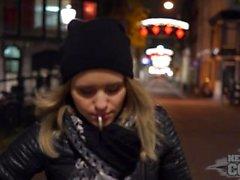 en natt i Amsterdam i lettiska på euron coed linda