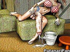3D Shemales а Futanari Девочки !