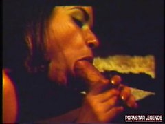 Vintage pornstar sucks and fucks a monster cock