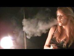 Mika Smoking - Huge Exhales and a cute outfit