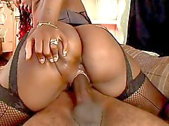 Ebony with a nice booty banged hard