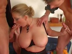 Trekant Fucking Hot Blonde Lady