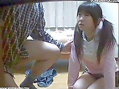Japan Schoolgirl Oralsex Självstudier