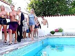 Slut Party Pool Orgy