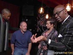 Interracial Threesome with Jada Stevens Cuckold