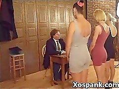 Wild Naughty Spanking Chick Sadistic Sex