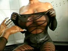 Mega boobs in latex