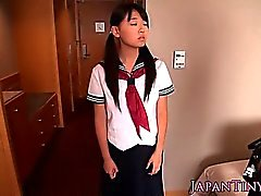 Asian petite schoolgirl fucked in tight pussy