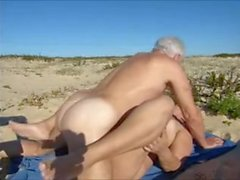 wife,hot sex at the beach