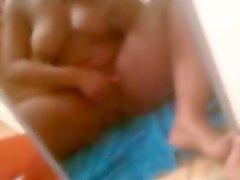 BBW vriend squirts op gestolen telefoon video