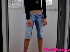 Wet Diana Jeans Capris Wetting