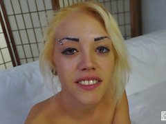 CastingAllaItaliana - Italian dreamy blonde is eaten out and fucked hard in her casting session