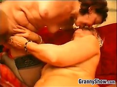 Very Old Lesbians Kiss And Lick Pussy