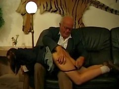 Slutty Schoolgirl Fucked By 2 Old Guys