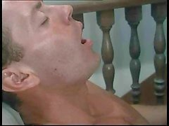 Dirty middle-aged hooker sucks guys` big cocks with all her eagerness