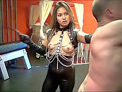 Whipped and whipped again by asian mistress