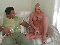Busty blonde Bridgette tut anale gangbang