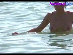 Sexy Brunette Hot NUDITS Beach Babe Voyeur Video
