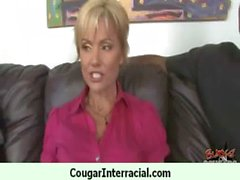 Wild cougar milf gets banged by black 7