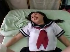 Gorgeous Asian girl takes every inch of hard meat in her ha
