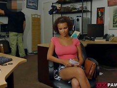 Black ebony woman nailed at the pawnshop