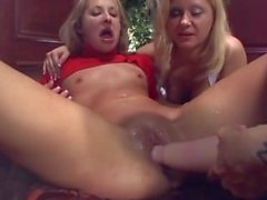 Chelsie gangfucked by a wild girls