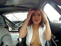 Russische modellen Ongeval op Raceauto