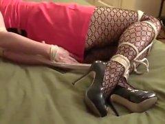 pantyhose tied