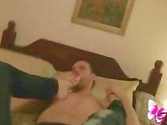 Shemale Sebastian loving Ana Mancini's feet