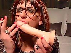 Cynthia Joelle Smoking Dildo Slut