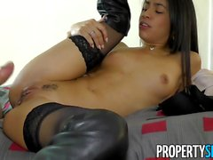 PropertySex - Latina agent cheers up client with some sex