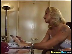 Slutty Secretary Playing With Her Pussy