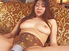 avmost - Huge jugg Japanese mommy pleasing her twat with a magic stick