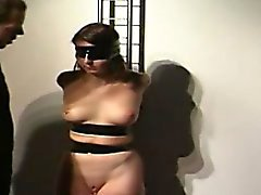 Redhead bitch has some crazy bondage fun!