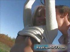 Rough french girlfriend fucking